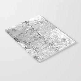 Portland White Map Notebook