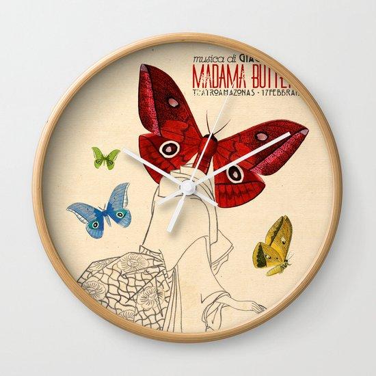 Madama Butterfly Wall Clock