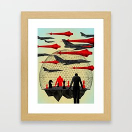 """Let's Play War"" by Brian Stauffer for Nautilus Framed Art Print"