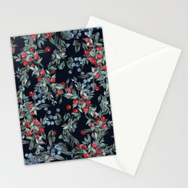 Festive Christmas Berries Pattern Stationery Cards