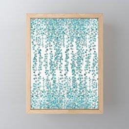 string of pearl watercolor Framed Mini Art Print