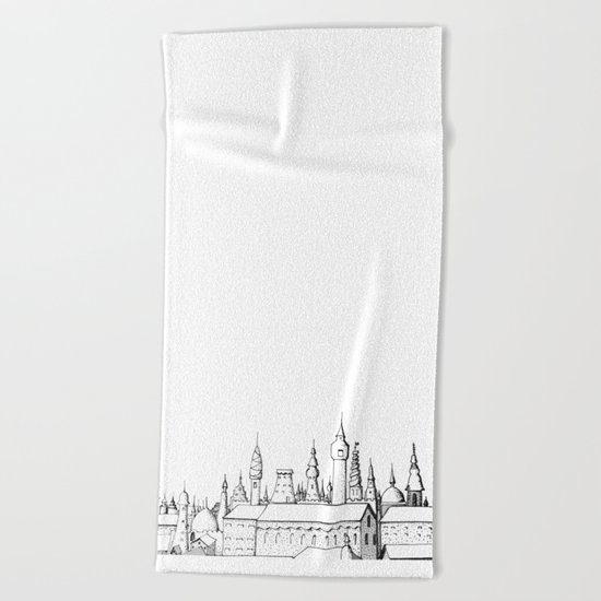 fabulous city Beach Towel