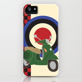 Scooter and mod symbols. iPhone Case