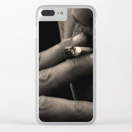 the smoker Clear iPhone Case