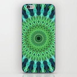 Green and blue mandala iPhone Skin