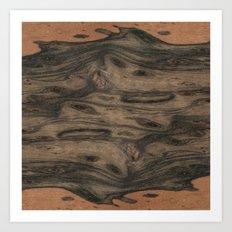 Birdseye Paldao Wood Art Print