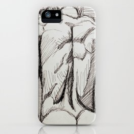 Male Back Sketch iPhone Case