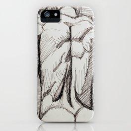 Male Back Sketch iPhone Case