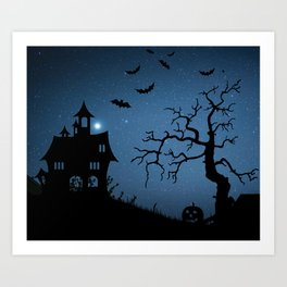 Halloween Backdrop Art Print
