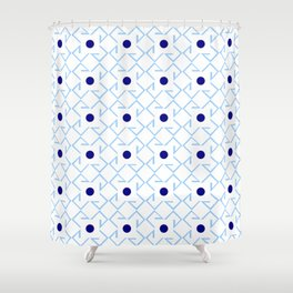 Antic pattern 9- from LBK blue Shower Curtain