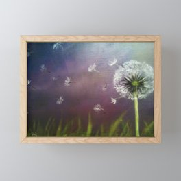 Dandelion 2 (Dandelion in the wind) Framed Mini Art Print