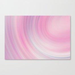 Peach Sound Waves Canvas Print