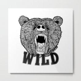Bear Wild Metal Print