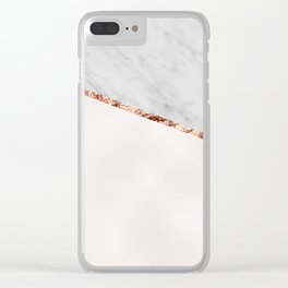 Park Avenue pearl marble Clear iPhone Case