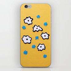 Dutch Flowers on Yellow iPhone & iPod Skin