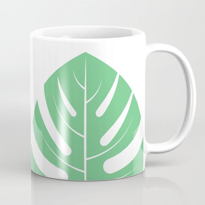 Monstera plant leaf Coffee Mug