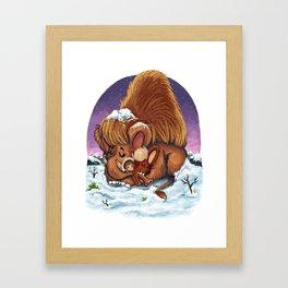 Woolly Mammoths Framed Art Print