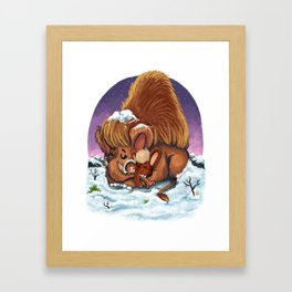 Woolly Mammoths Framed Art Print