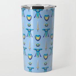 Erdrick's Equipment - Light Blue Travel Mug