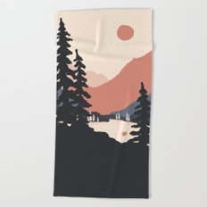 View From the East Shore... Beach Towel