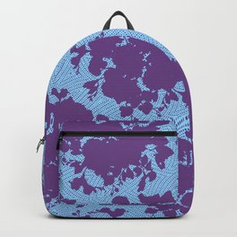 bouquet silhouette on light blue Backpack