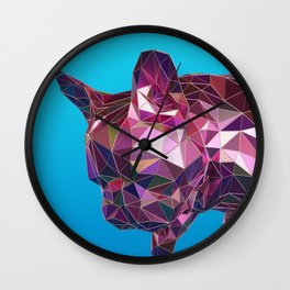 Blue French Bulldog Wall Clock