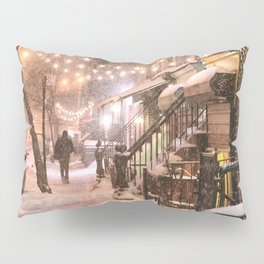 Snow - New York City - East Village Pillow Sham