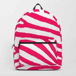Bright Neon Pink and White Zebra Animal Safari Stripes Backpack