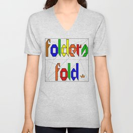 Folders Fold Unisex V-Neck