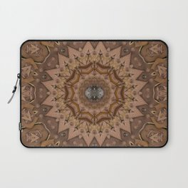 peace on earth in leather Laptop Sleeve
