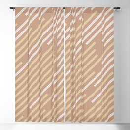 Sand Storm Beige Yellow Brown Off White Stripes 2021 Color of The Year Canyon Dusk Accent Shades Blackout Curtain