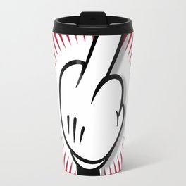 Cartoon Finger Travel Mug