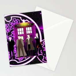 Tardis Shine Of Purple With The Doctor Stationery Cards