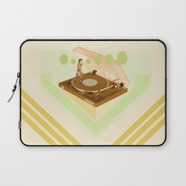 the girl who was roller skating on a record player... Laptop Sleeve