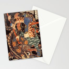 Miyamoto Musashi - Killing a Giant Nue Stationery Cards