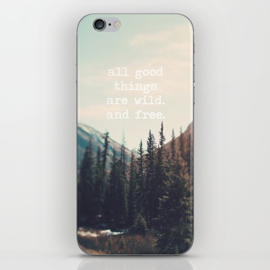 Wild and Free  iPhone & iPod Skin