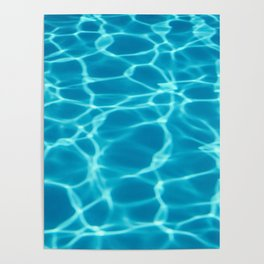 Swimming pool water sun reflection. Ripple Water. Poster