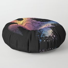 Watercolor Space Turtle Floor Pillow