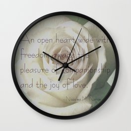 An Open Heart  Wall Clock
