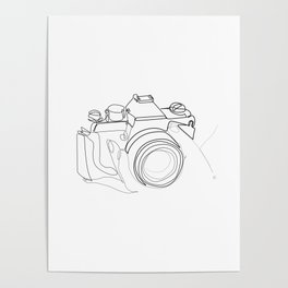 """"""" Photography Collection """" - Hand Holding Digital Camera Poster"""