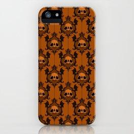Halloween Damask Rust iPhone Case