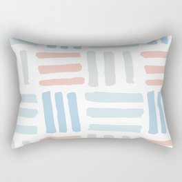 Pastel blocks Rectangular Pillow
