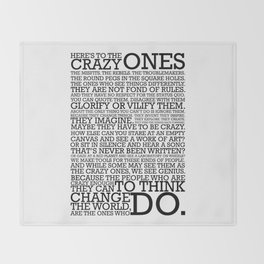 Here's To The Crazy Ones - Steve Jobs Throw Blanket
