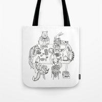 community Tote Bags featuring Community  by Alexa Roberts