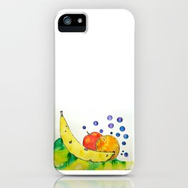 Bubbly Mixed Fruit iPhone Case