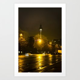 Berlin Night Splash Art Print