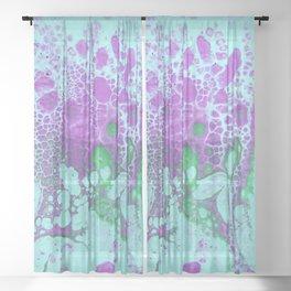 When the pastel garden blooms Sheer Curtain