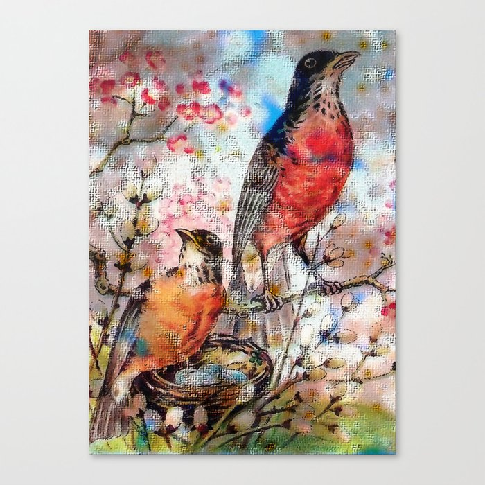 A Robin Redbreast Morning Canvas Print by tammera (CNV9496762) photo