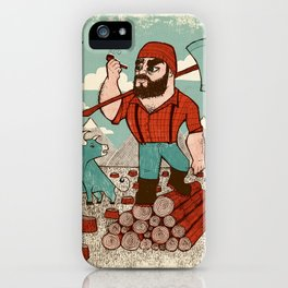 Paul Bunyan & Babe iPhone Case