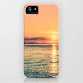 Pastel Sunset Calm Blue Water iPhone Case